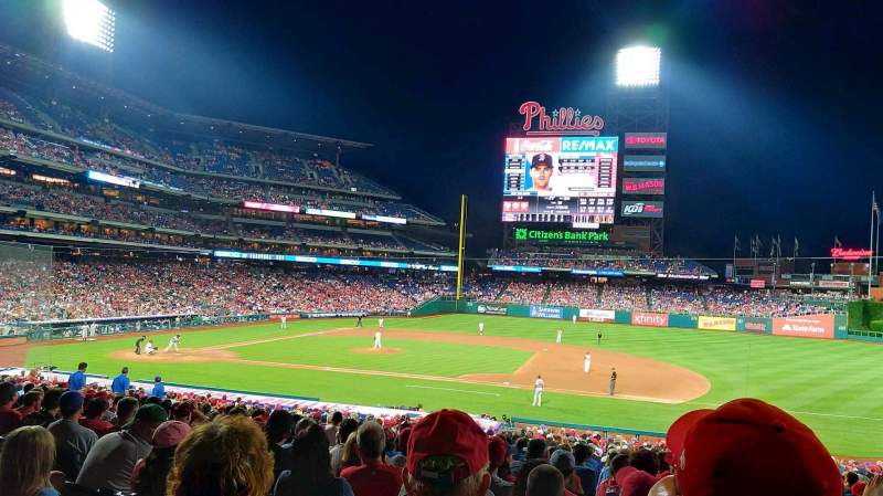 Seating view for Citizens Bank Park Section 115 Row 36 Seat 12