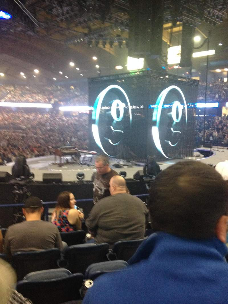 Seating view for Allstate Arena Section 108 Row k Seat 3