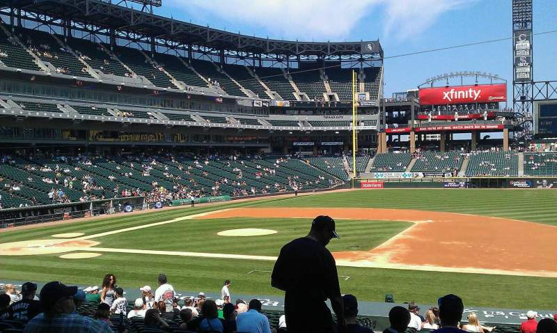 Seating view for Guaranteed Rate Field Section 122 Row 29 Seat 6