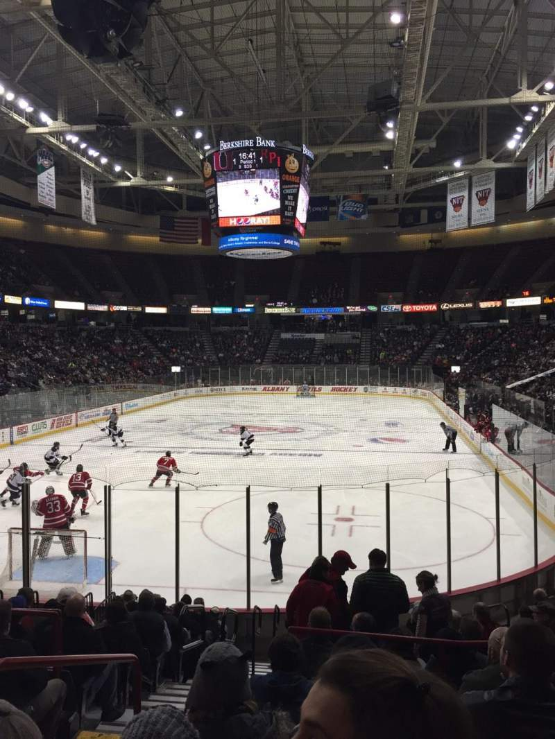 Seating view for Times Union Center Section 111 Row K Seat 10