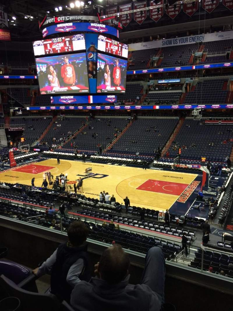 Seating view for Verizon Center Section 202 Row C Seat 11