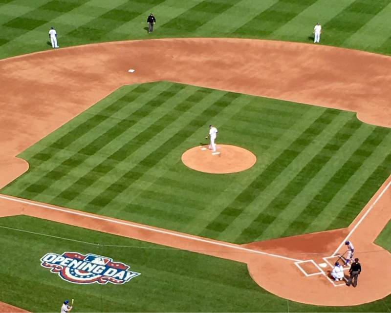 Seating view for Kauffman Stadium Section 417 Row SS Seat 8