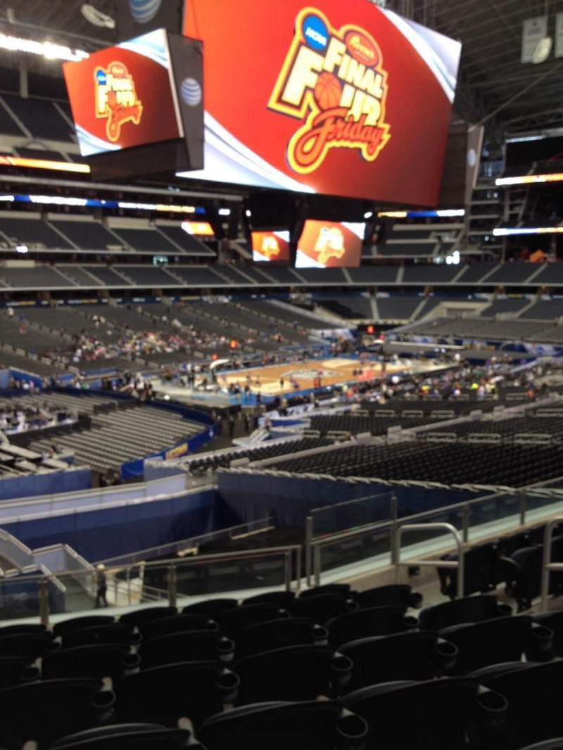 Seating view for AT&T Stadium Section 217 Row 8 Seat 7
