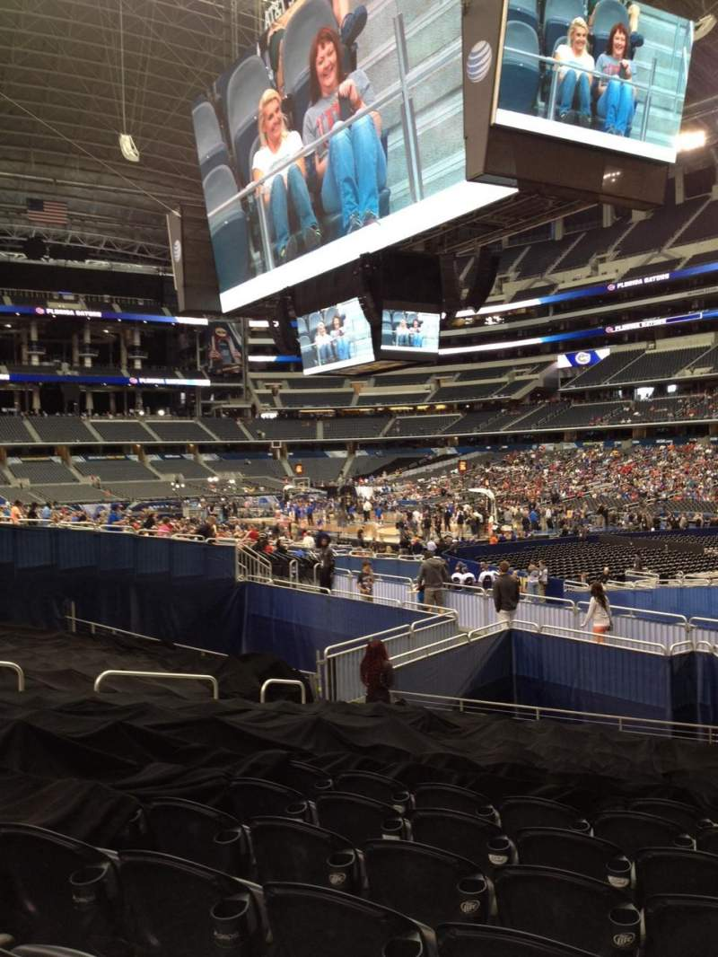 Seating view for AT&T Stadium Section 102 Row 14 Seat 8