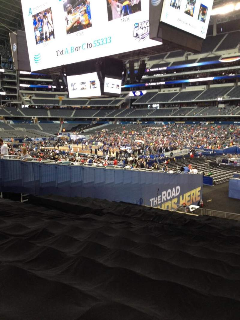 Seating view for AT&T Stadium Section 128 Row 21 Seat 1
