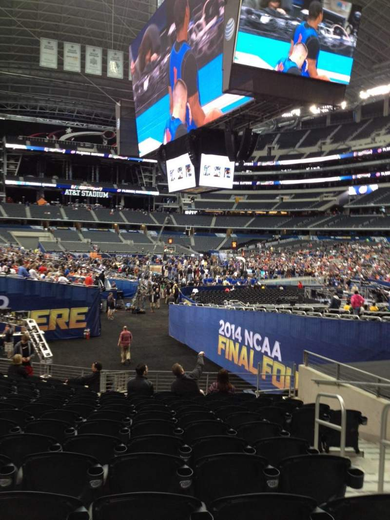 Seating view for AT&T Stadium Section 126 Row 15 Seat 3