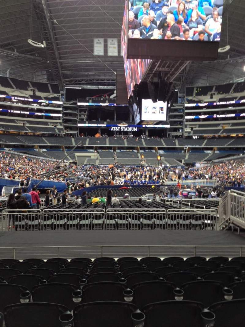 Seating view for AT&T Stadium Section 124 Row 16 Seat 10