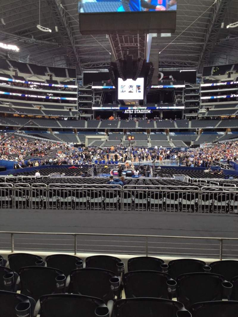 Seating view for AT&T Stadium Section 123 Row 13 Seat 7