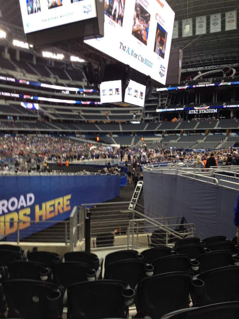 Seating view for AT&T Stadium Section 121 Row 15 Seat 10