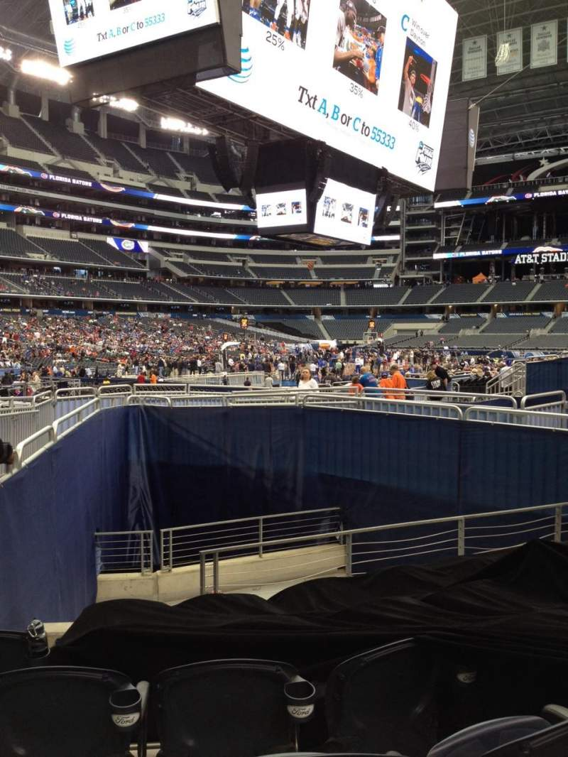 Seating view for AT&T Stadium Section 120 Row 10 Seat 9