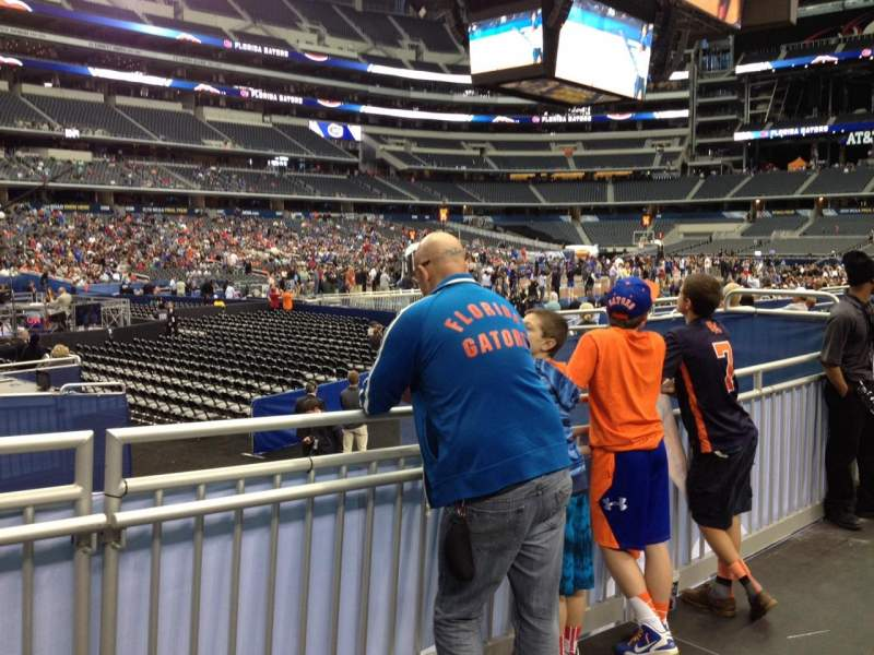 Seating view for AT&T Stadium Section 119 Row 9 Seat 18