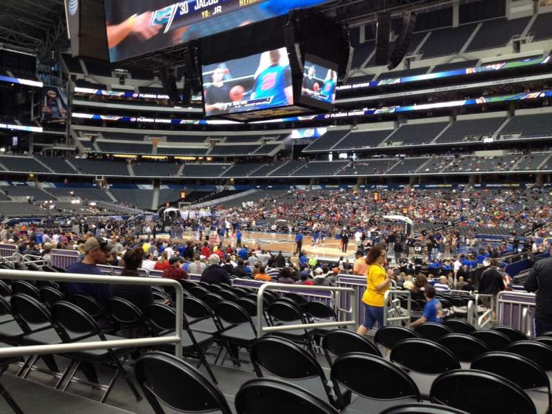 Seating view for AT&T Stadium Section C107 Row FF Seat 18
