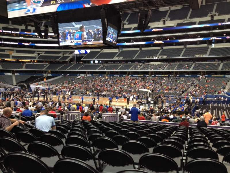 Seating view for AT&T Stadium Section C108 Row LL Seat 9