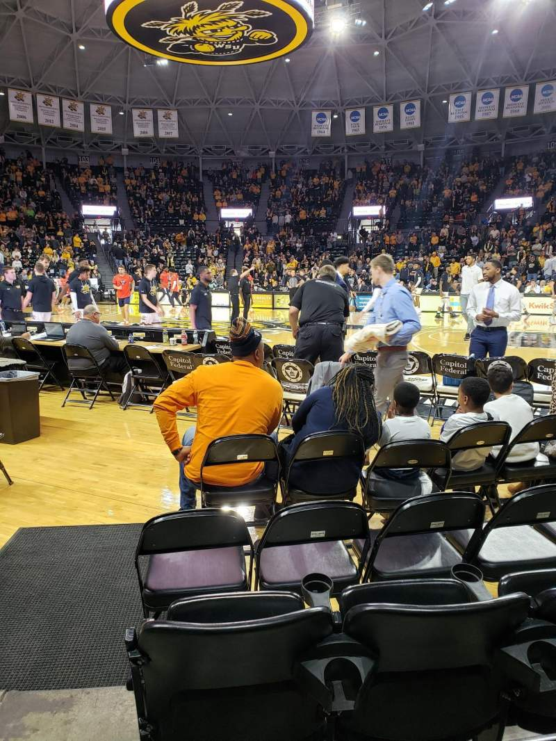 Seating view for Charles Koch Arena Section 119 Row 4 Seat 9