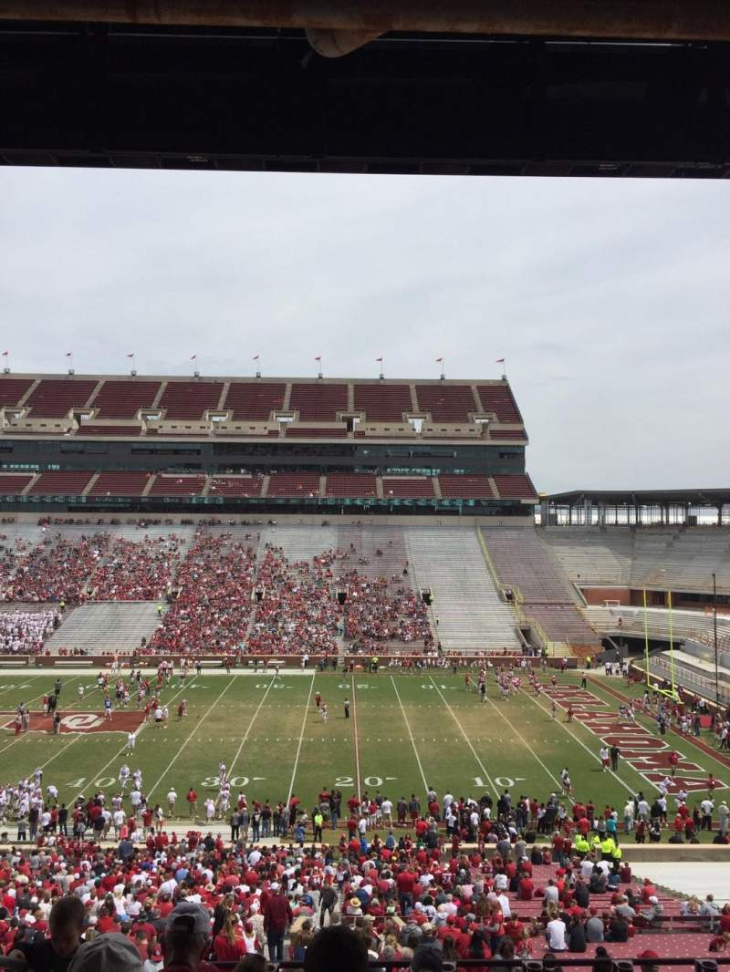 Seating view for Gaylord Memorial Stadium Section 3 Row 65 Seat 19
