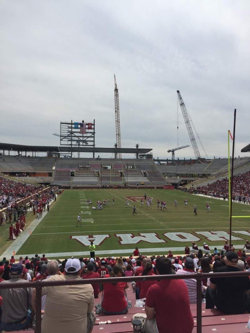 Seating view for Gaylord Memorial Stadium Section 19 Row 32 Seat 30