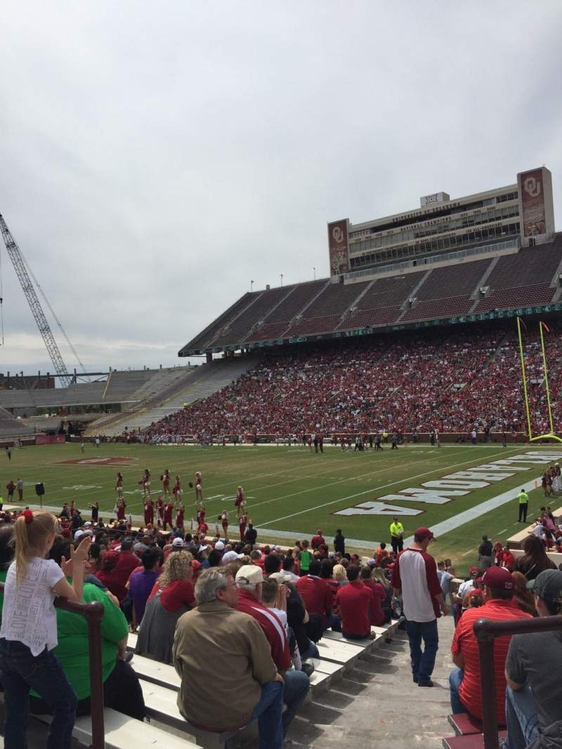 Seating view for Gaylord Memorial Stadium Section 24 Row 31 Seat 1