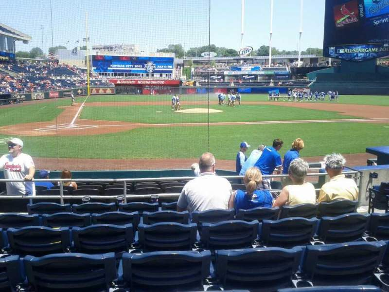 Seating view for Kauffman Stadium Section 131 Row H Seat 4