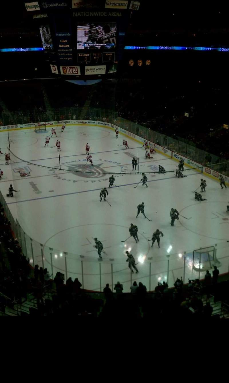 Seating view for Nationwide Arena Section 226 Row D