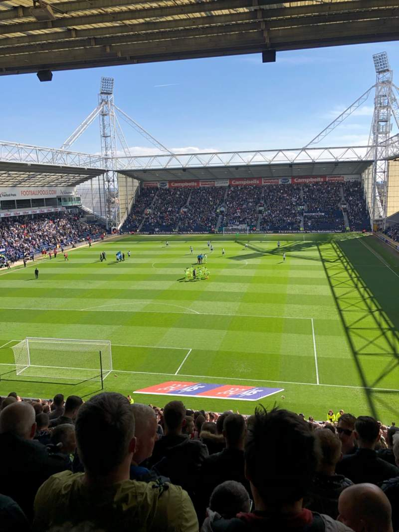 Seating view for Deepdale Section M Row 34 Seat 47