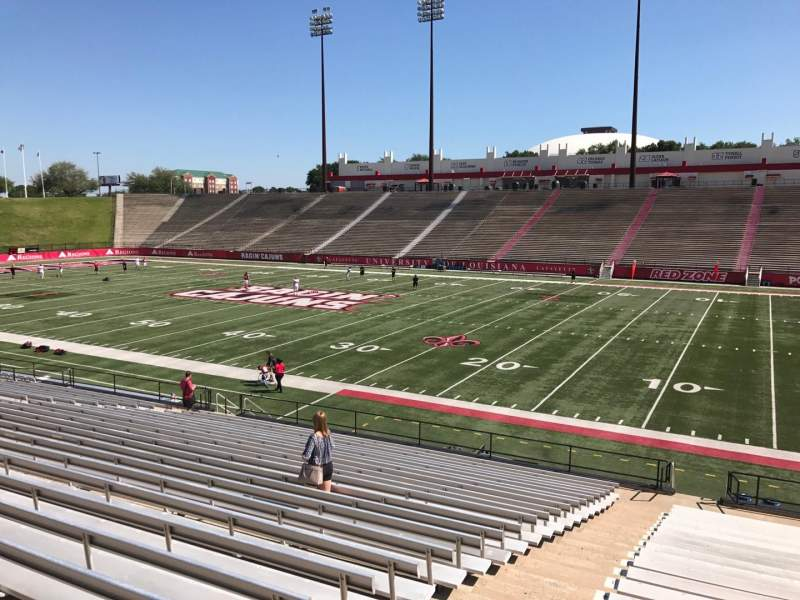 Seating view for Cajun Field Section A Row 24 Seat 34