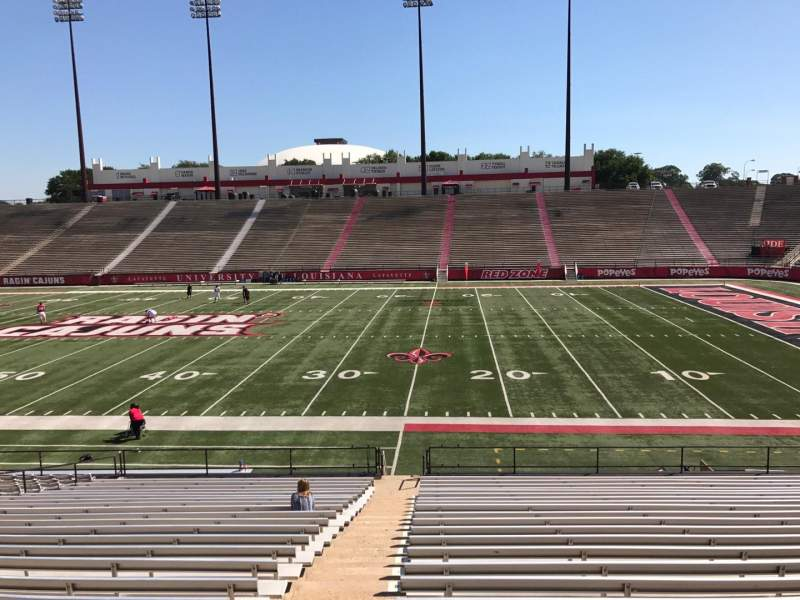 Seating view for Cajun Field Section B Row 24 Seat 29