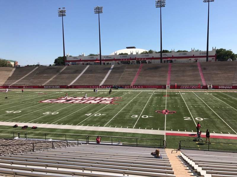 Seating view for Cajun Field Section C Row 24 Seat 1
