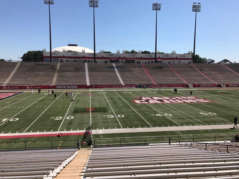 Seating view for Cajun Field Section E Row 24 Seat 16