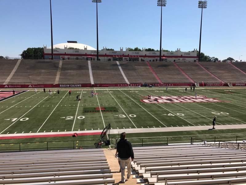 Seating view for Cajun Field Section F Row 24 Seat 1