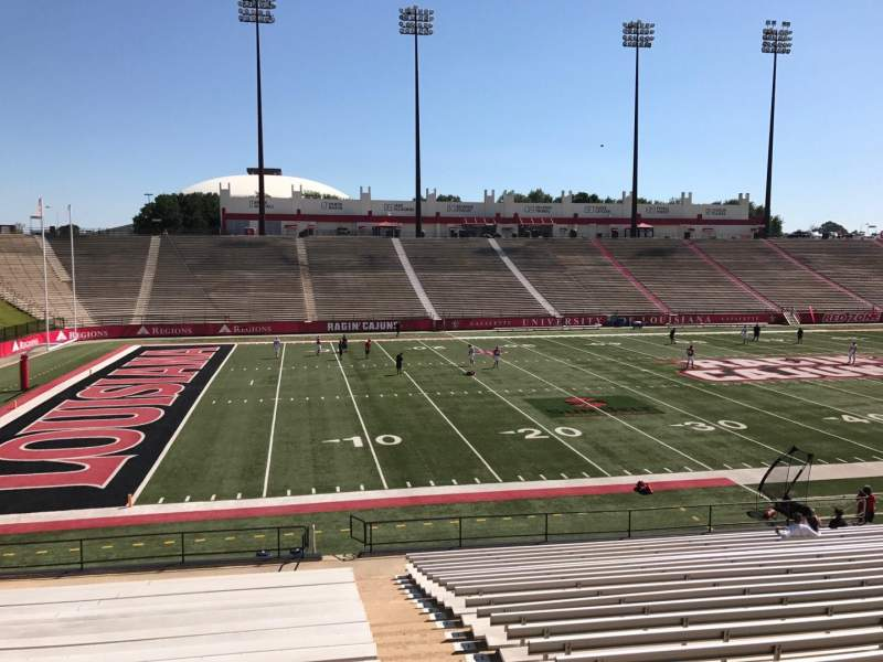 Seating view for Cajun Field Section G Row 24 Seat 1