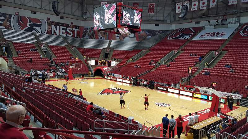 Seating view for Worthen Arena Section E Row O Seat 3