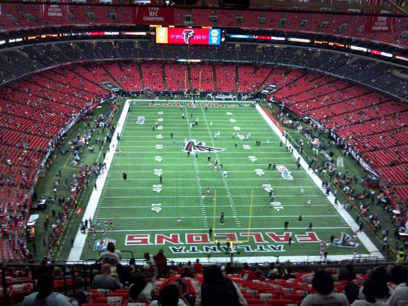 Seating view for Georgia Dome Section 335 Row 26 Seat 2