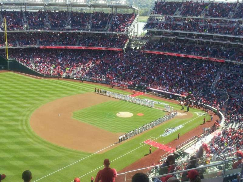 Seating view for Nationals Park Section 403 Row k Seat 10