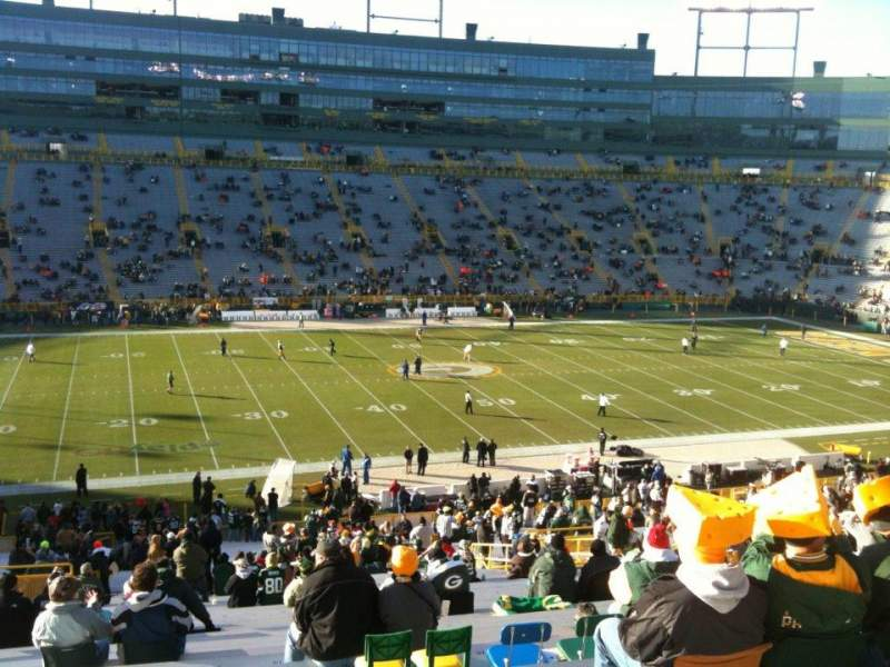 Seating view for Lambeau Field Section 123 Row 60 Seat 22