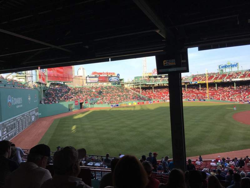 Seating view for Fenway Park Section Grandstand 31 Row 12 Seat 22