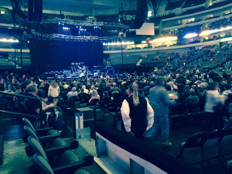 Seating view for American Airlines Center Section 117 Row B Seat 8