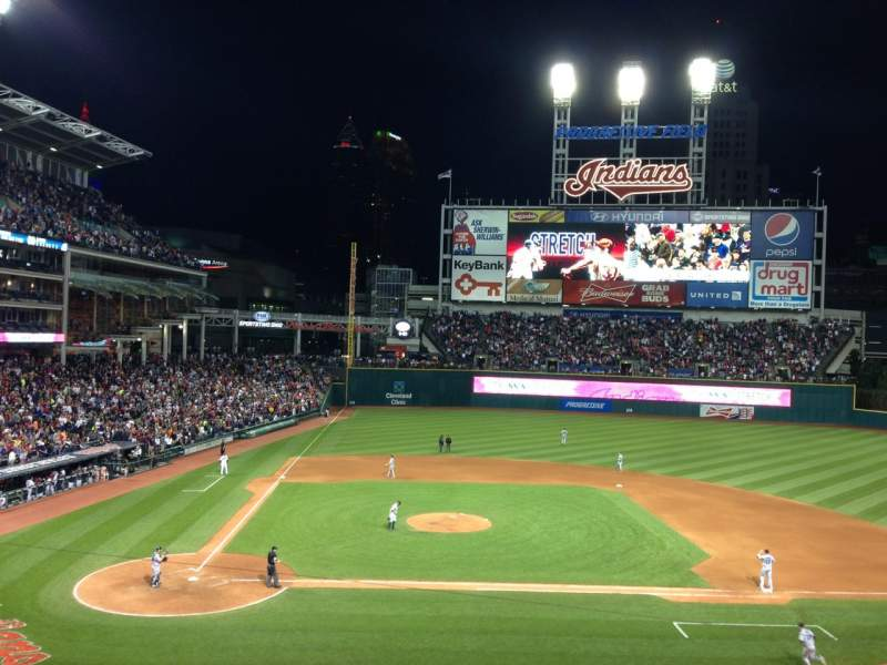 Seating view for Progressive Field Section 348 Row E Seat 5
