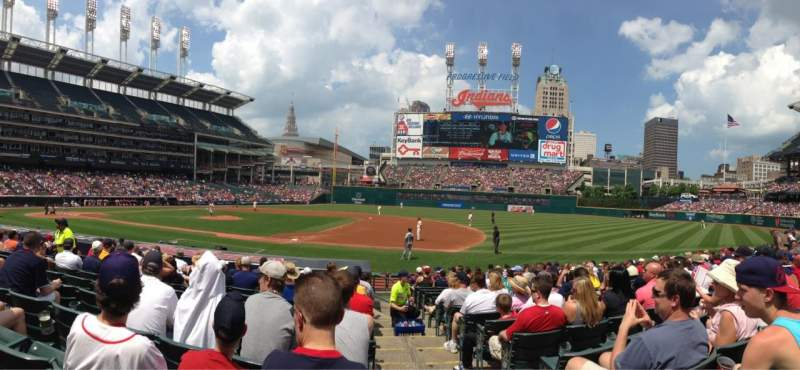 Seating view for Progressive Field Section 140 Row Q Seat 1