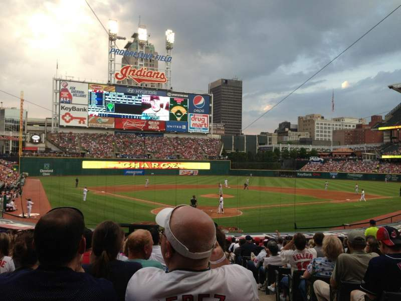 Seating view for Progressive Field Section 153 Row AA Seat 1