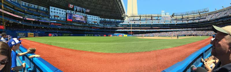 Seating view for Rogers Centre Section 130B Row 1 Seat 12