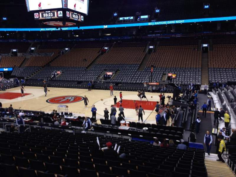 Seating view for Scotiabank Arena Section 117 Row 20 Seat 1