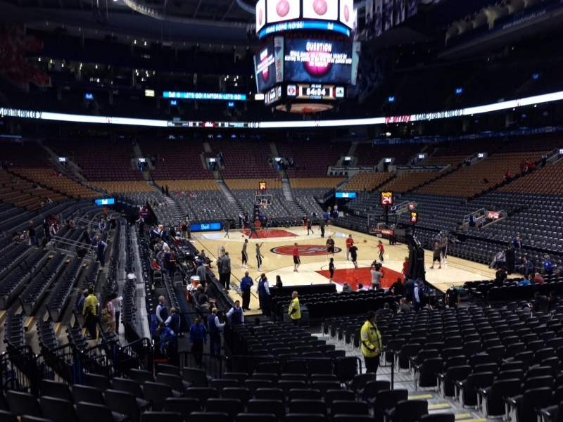Seating view for Air Canada Centre Section 115 Row 20 Seat 9