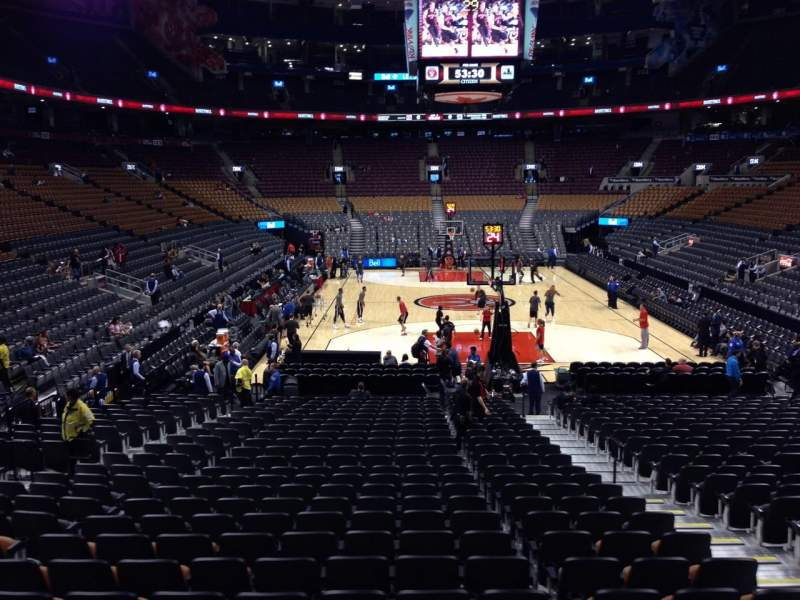 Seating view for Scotiabank Arena Section 114 Row 18 Seat 6