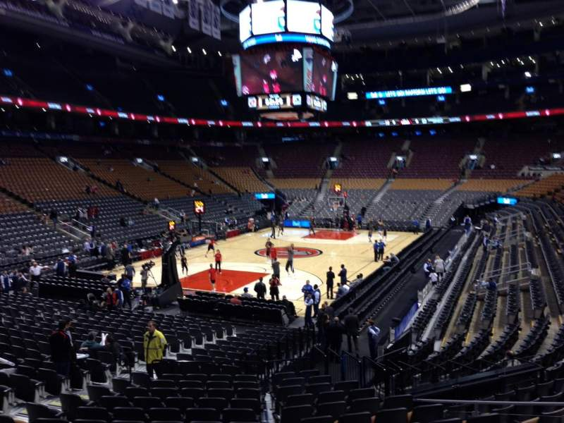 Seating view for Scotiabank Arena Section 112 Row 19 Seat 9