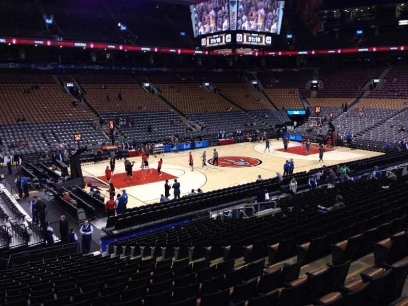 Seating view for Air Canada Centre Section 110 Row 20 Seat 8