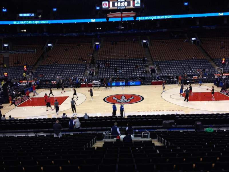 Seating view for Air Canada Centre Section 108 Row 20 Seat 6