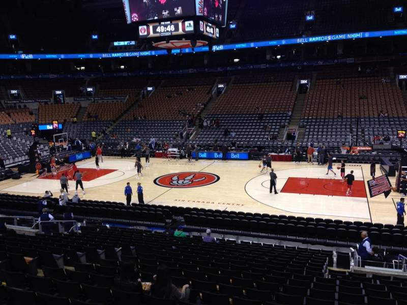 Seating view for Air Canada Centre Section 107 Row 20 Seat 11