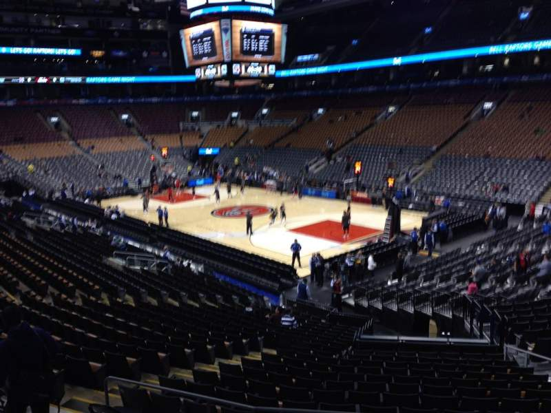 Seating view for Air Canada Centre Section 105 Row 23 Seat 12