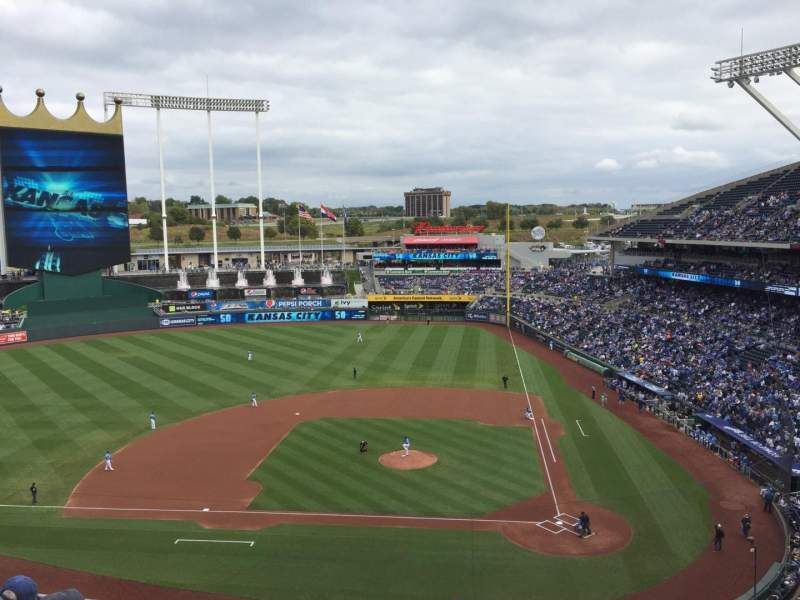 Seating view for Kauffman Stadium Section 413 Row G Seat 15