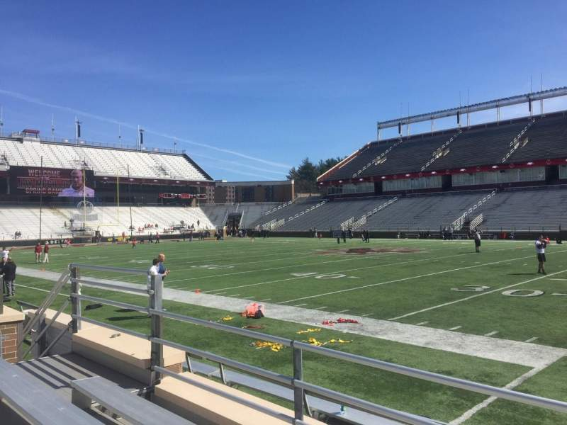 Seating view for Alumni Stadium Section E Row 7